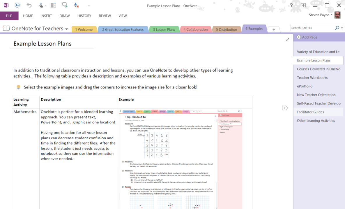Collaborative Teaching Lesson Plans : Onenote resources for learning and teaching standout